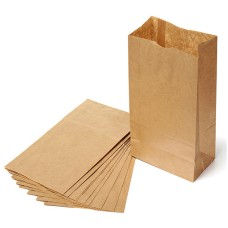 Takeaway food-grade packing bags kraft paper bags 15x9x27 cm ,custom design welcome
