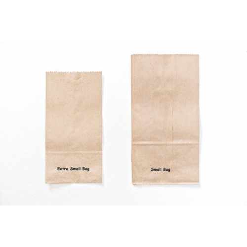 Extra Small Brown Bag Kraft Paper Bags Lunch Gusset Party