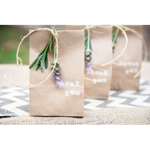 100 Extra Small Brown Bag Kraft Paper Bags Lunch Bags Gusset Bag