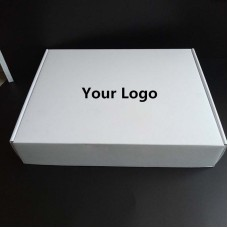 100PCS/lot Custom thick white Corrugated paper shipping mailer boxes Printed logo Packaging Clothes underwear polo shirt Box