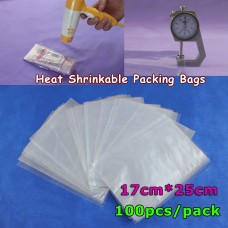 shrink bags 6.7x9.8Inch(17x25cm) Soft Transparent Blow Molding PVC Heat Shrinkable Bags Film Wrap Cosmetic Packaging Wrap Materials