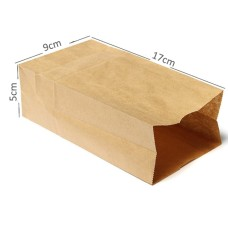 17cmX9cmX5cm Kraft Paper Small Gift Bags Sandwich Bread Food Bags Takeout Bags Party Wedding Favour