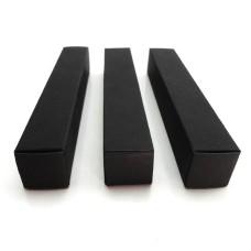 2*2*12cm Black Paper Box for Essential Oil Perfume sample bottle Lipstick Stroage Boxes Craft Gift boxes valve tubes, black kraft paperboard box,cardboard case