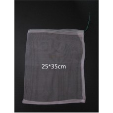 25*35cm 40 Mesh Nylon bag,Fish Fruit wristband bag,Insect birds pest filter bag,Rice seed soaking,Seed storage bag