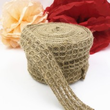 1.5inch Natural Color Mesh Jute Burlap Ribbon For vintage rustic wedding and Wreaths Ribbon 10Meter/Roll