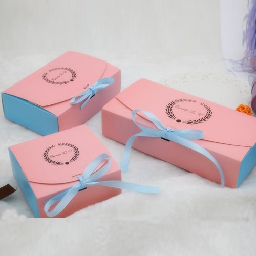 21 Style Kraft Paper Wedding Favors Gift Paper Box For Cake Packing