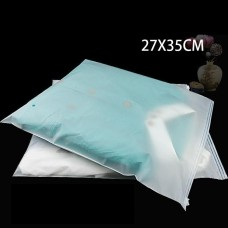 27*35cm Three styles ( Frosted/Clear ) PE plastic zipper bag Clothing storage bag Garment bag