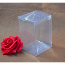4*4*6cm Small clear folding plastic clear packing box/clear plastic PVC gift boxes,plastic packaging box for Christmas gift