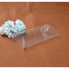 5.2*2.4*12.7cm Free Shipping Gift Foldable wholesale transparent Pillow clear plastic box/clear pillow boxes