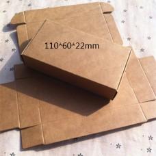 350gsm kraft paper box nice kraft box plain kraft packaging box size 11*6*2.2cm