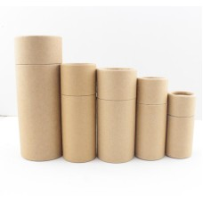 Inner Height 13.5cm and Inner Diameter 4.8cm,Paper jar kraft paper box round cylinder oil bottle packaging cardboard tube