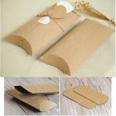 Kraft paper packing box Kraft Paper Pillow Box kraft pillow gift packaging boxes , custom design welcome