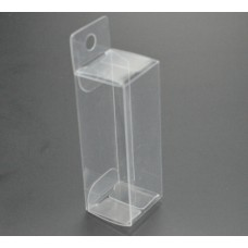 New 20pcs 3*3*7.5cm,transparent PVC box with hanging, gift packaging boxes, clear display box