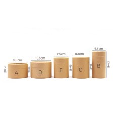 Paperboard tube, Tea Packaging Tube Drawing Tube Wrapping Packaging Kraft Coffee Paper Tube Oil painting cylinder