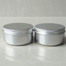 100g Round Tin , 100ml Silver Metal Aluminum Jar w/aluminum Cover Mini Jar , 3.33oz Aluminum Cosmetic Jar with screw Lip Container
