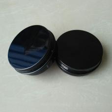 100ml black Metal Aluminum Jar w/aluminum Cover Mini Jar,  100g black aluminum tin, metal jar for cream powder gel use, 3.33 oz cosmetic bottles, 100ml black color aluminum container