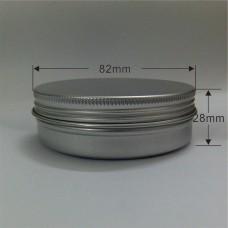 100ml PET Silver Metal Aluminum Jar w/aluminum Cover Mini Jar,  100g aluminum tin, metal jar for cream powder gel use, 3.33 oz cosmetic bottles, 100ml aluminum container