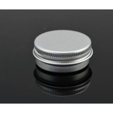 10ml Aluminum can, Metal Tins, Silver Metal Twist Top Tins with  Continuous Thread