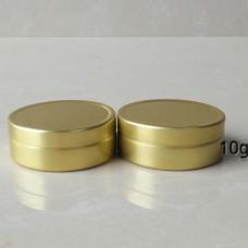 10ml gold Aluminum tins ,golden color Cosmetic Empty Jar Pot, Lip Gloss Balm Holder 10g Gold Tone 4015# slip lid