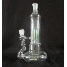 Glass Hookah Spiral Coil Systerm Oil Rig Mothership Glass Pipe green