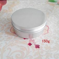 150 Gram Aluminium Metal Empty Cosmetic Pot Jar Tin Container Craft Nail Art Cream Lip Balm Makeup Containers ,150ml aluminum jars with flat screw lid