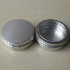 Aluminum tins ,Balm Nail Art Cosmetic Cream Make Up Pot Lip Jar Tin Case Container Screw 200ml / 200g / 6.7oz