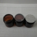 200g Amber Jars with aluminum lid, 6.8 Oz Jars PET Plastic Empty Cosmetic Containers,metal lid ,black cover , White Caps, Sugar Scrub, Powder, Body Cream, Lotion, Beads