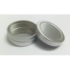20g Metal Tins, Silver Metal Twist Top Tins w/ slip lid , 20ml aluminum pots