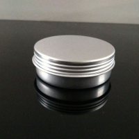 25g Empty Aluminum Jars w/ screw lid ,Refillable Cosmetic Bottle Ointment Cream Sample Packaging Containers Screw Cap , 25ml aluminum pots
