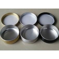 60g gold aluminum tin ,  60ml aluminum pots, 2oz. Screw Top Tin Can