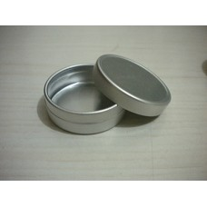 10ml Aluminum tins ,Cosmetic Empty Jar Pot Lip Gloss Balm Holder 10g Silver Tone 4015# slip lid