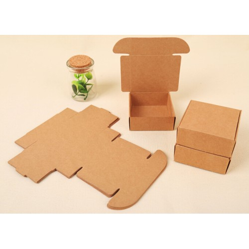 Paperboard Box Small Kraft Paper Box Custom Gift Packaging Box