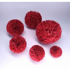 Handmade pom poms ,Raffia Pom Poms with Loops for DIY Crafts, Raffia Decorations Handmade from Natural Raffia Fibers