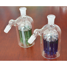 ash catcher with tree perc , Blue Tree Perc Glass Fountain , Green and any color available