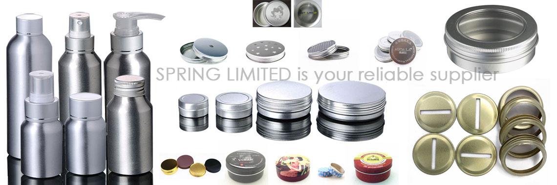 aluminum tins  ,jars ,caps