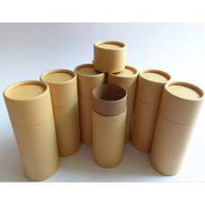 50ml Paperboard Containers, Brown Paperboard Tubes with a fitted paper cap on top, 100% paperboard