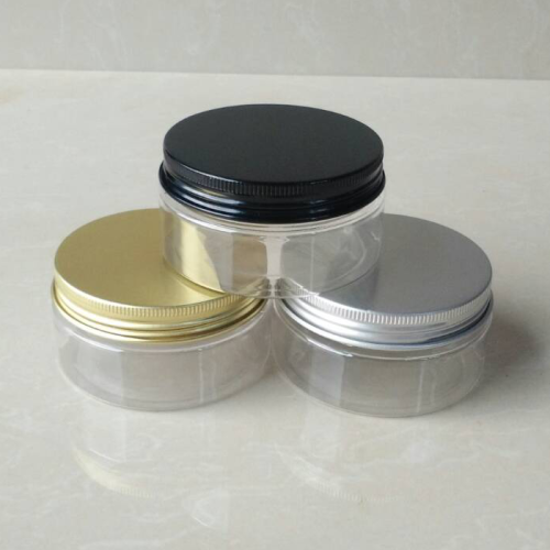 30ml Clear Pet Jar With Aluminum Screw Lid 1oz Plastic Jar With