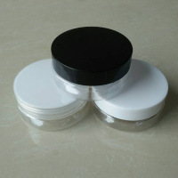 80ml Empty PET Jars with Aluminum lid , 80g Empty Silver Containers Cosmetic Jar Cap Creams Makeup Travel , 80g plastic tins