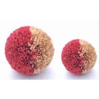 DIY Craft Pom Poms For Christmas, Hot sale high quality customized straw pom pom ,multi color pompoms straw ball ,raffia decoration