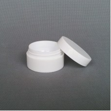 30ml White PET plastic jar , face cream jar , cosmetic container , cusotm made welcome