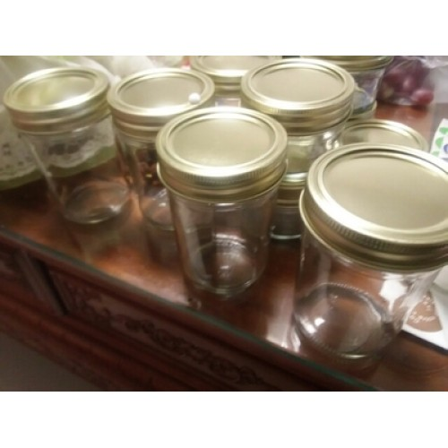 Wholesale 8oz Straight Side Wide Mouth Glass Mason Jars